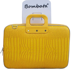 Geanta lux business laptop 15.6 Bombata Cocco-Galbena