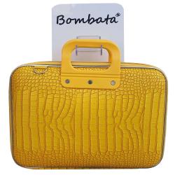 Geanta lux business laptop 13 Bombata Medio Cocco-Galben