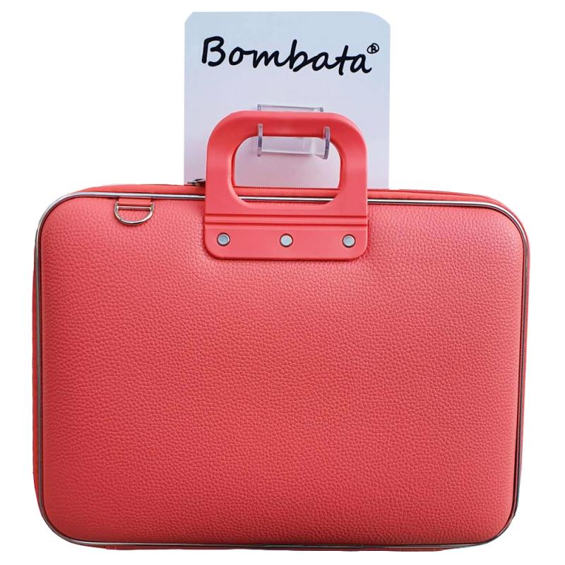 Geanta lux business laptop 17 Bombata Maxi Classic-Coral