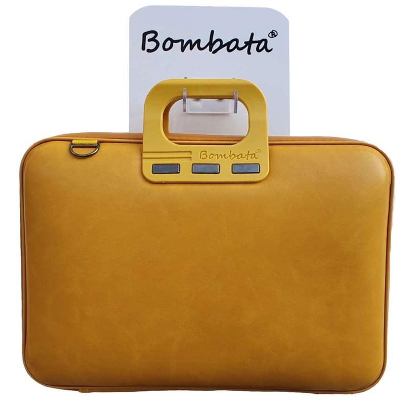 Geanta lux business laptop 15,6 Bombata Evolution-Galben