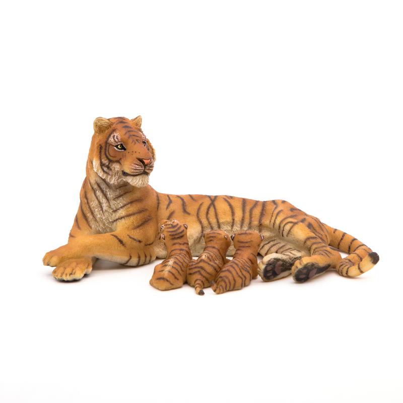Figurina Papo Tigru cu 3 pui