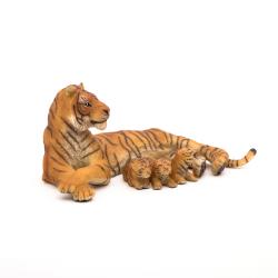 Figurina Papo Tigru cu 3 pui importator