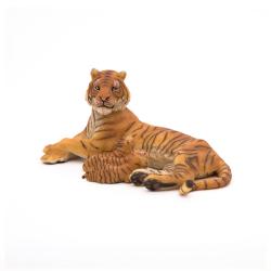 Figurina Papo Tigru cu 3 pui Jad Flamande