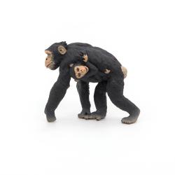 Figurina Papo-Cimpanzeu si pui Jad Flamande