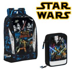 Set Penar echipat si Ghiozdan scoala Star Wars