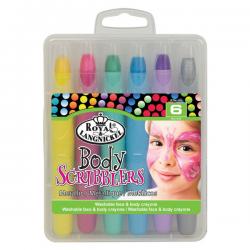 Set 6 creioane culori metalizate pentru fata si corp copii
