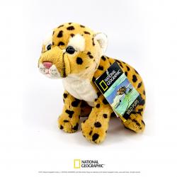 Jucarie din plus National Geographic Pui de ghepard 26cm