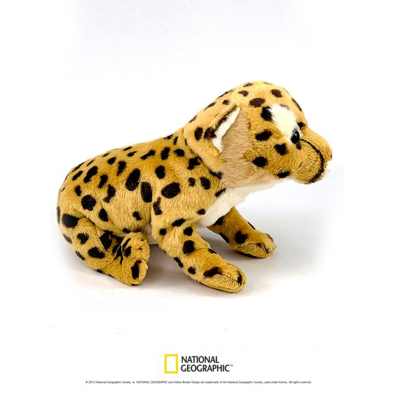 Jucarie din plus National Geographic Puiut de Cheetah 26cm