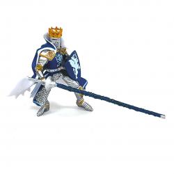 cavaler cu blazon dragon albastru