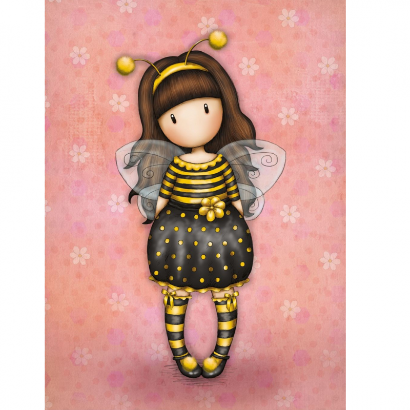 Felicitare cu efecte speciale Gorjuss Bee Loved