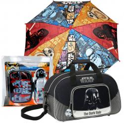Pachet sport Star Wars compus din geanta sport sticla apa si umbrela
