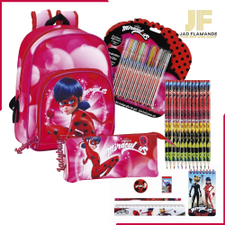 Ghiozdan echipat Ladybug pentru fete