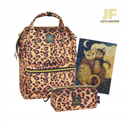 Pachet cadou Moos Animal Print, geanta laptop si portfard