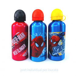 Recipiente de apa spiderman in trei variante
