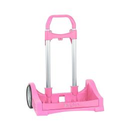 Troler copii mare roz pliabil pentru scoala Evolution