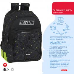 Rucsac scoala material reciclabil Blackfit7 topo