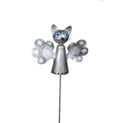 Figurina decorativa de gradina din metal Pisicuta morisca