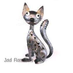 Figurina decorativa de gradina din  metal Pisica