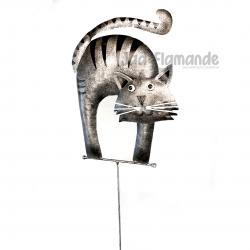 Decoratiune gradina ghiveci Pisica cu tija