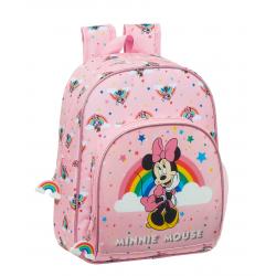 Ghiozdan clasa 0 Minnie Mouse Rainbow