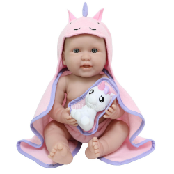 bebelusa cu prosop roz cu gluga