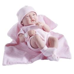 bebelus cu combinezon roz jucarie fetite