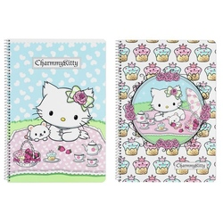 "Caiet cu spira A4-80 de file colectia Charmmy Kitty ""Cakes"""