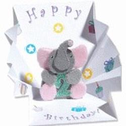 Minifelicitare 3D-Elefantel - un cadou aniversar special pentru persoanele speciale dragi tie.