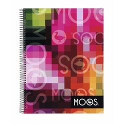 Caiet cu spira A4-120 de file matematica Moos