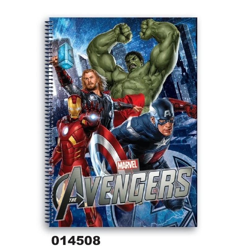 Caiet matematica cu spira A5 (80file) colectia Avengers