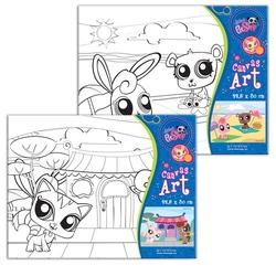 Pictura pe panza pentru copii Littlest Pet Shop 22,5X30 cm