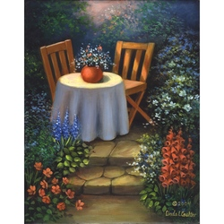 Set pictura pe panza - Masa din gradina