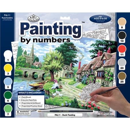 """Pictura creativa pe numere avansati - """"In curte"""""""