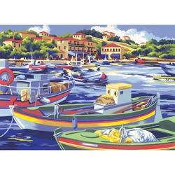 "Pictura creativa pe numere avansati - ""Barci de pescuit"""