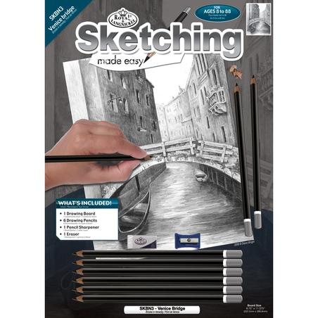 Set pentru realizarea unui desen in creion - Pod venetian