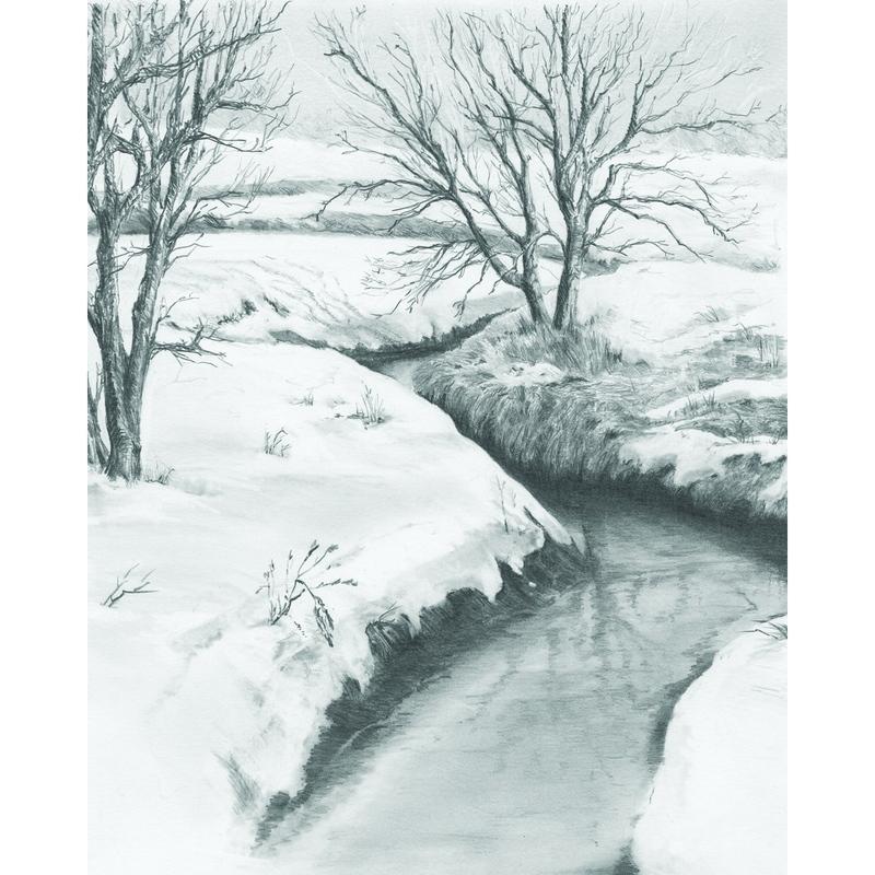 Set pentru realizarea unui desen in creion - Iarna