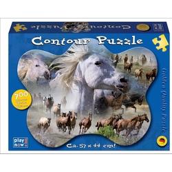 Puzzle contur 700 piese Cai