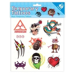 Kids Create-Set tatuaje provizorii pentru corp- baieti