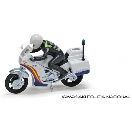 Motocicleta Kawasaki de politie, cu pilot scara 1:22