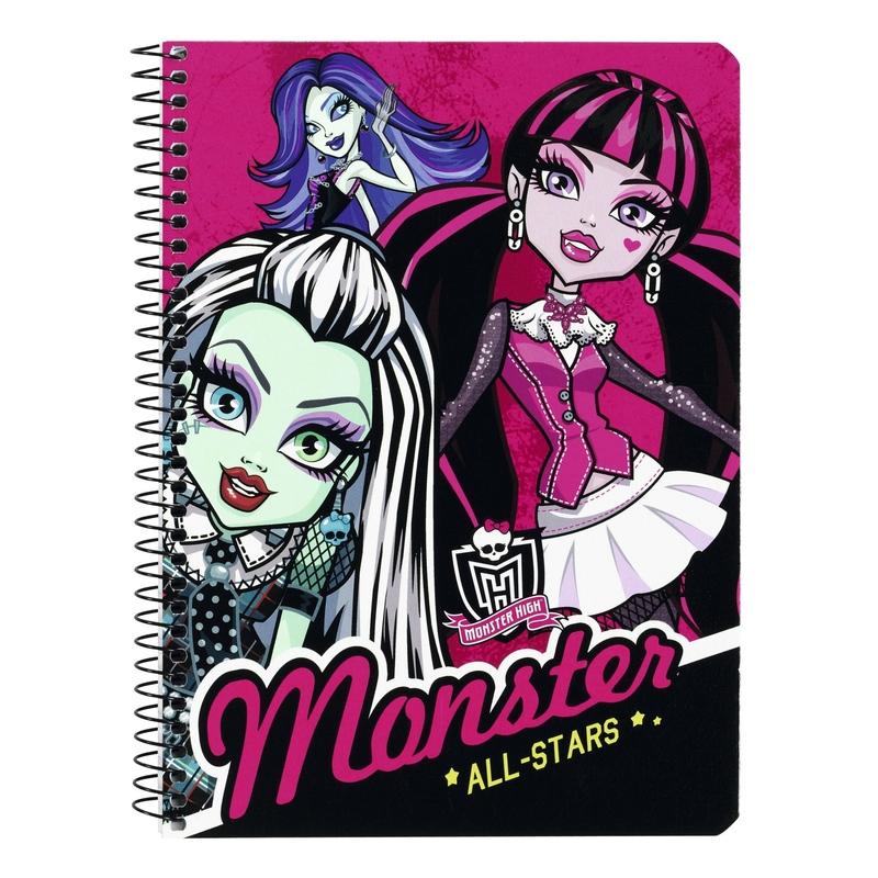 Caiet cu spira A5-80 de file colectia Monster High All Stars