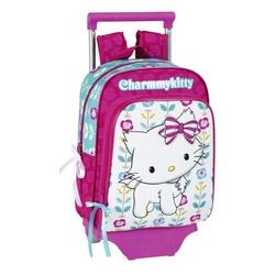 "Ghiozdan trolley gradinita colectia Charmmy Kitty ""Flowers"" 2"