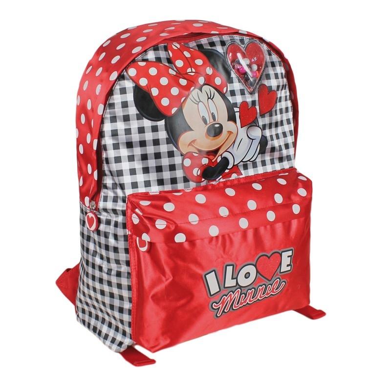 Ghiozdan rosu copii Minnie Mouse 40 cm