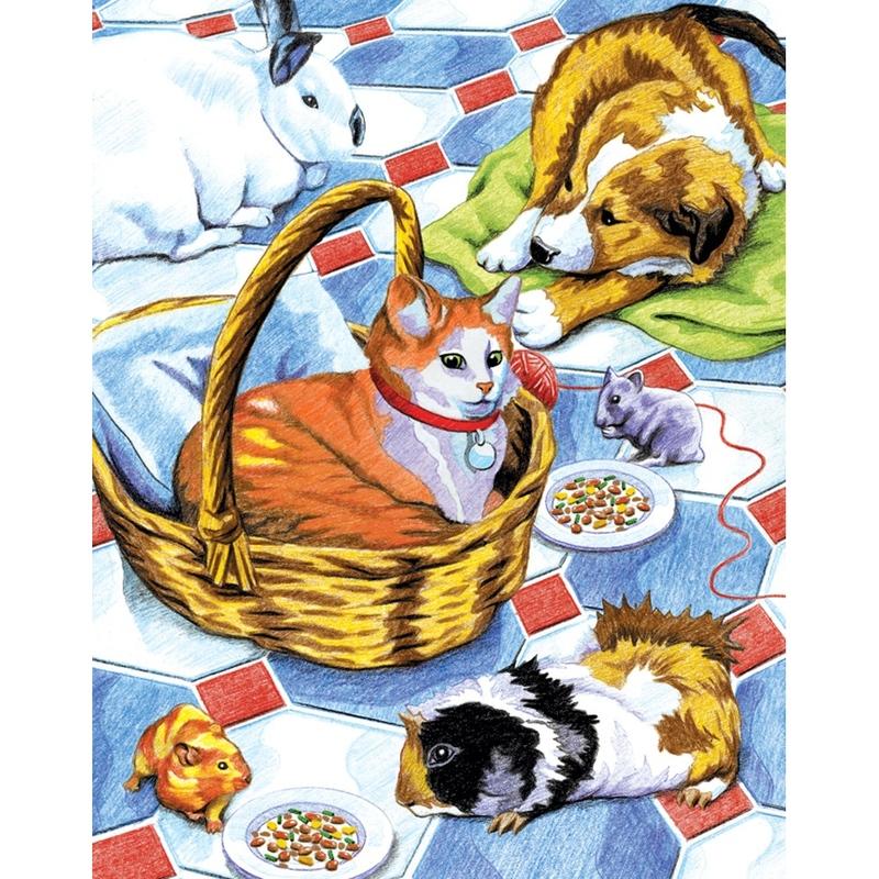 Set creativ educativ - Coloreaza pe numere - Pisicute