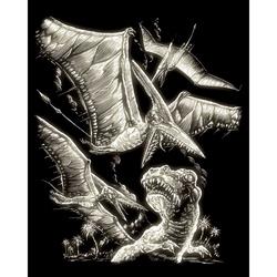 Set gravura pe folie fosforescenta - Dinozauri