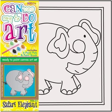 Pictura pe panza pentru copii Elefant