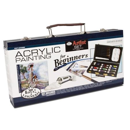 Trusa pictura culori acrilice