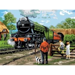 """Pictura creativa pe numere avansati - """"Trenul"""""""