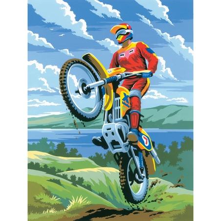 Prima mea pictura pe nr.junior mic - Motocross
