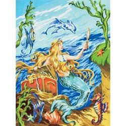 Prima mea pictura pe nr.junior mic - Sirena