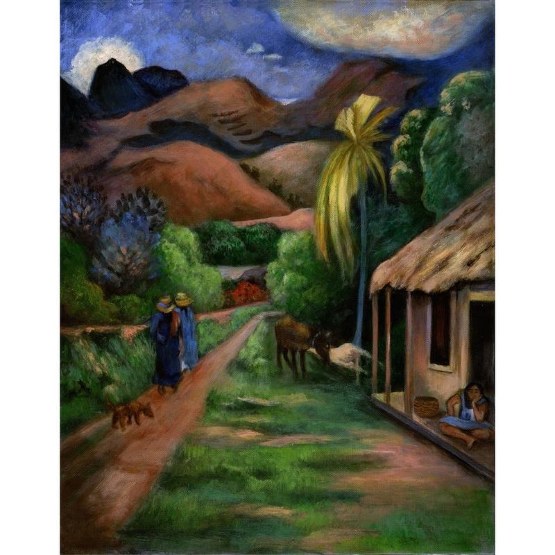 Set pictura pe panza - Drum montan